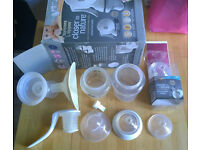 Tommee Tippee closer to nature breast pump and other feeding stuff