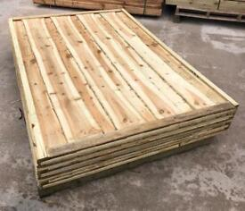 🦋 Pressure Treated Waneylap Wooden Garden Fence Panels
