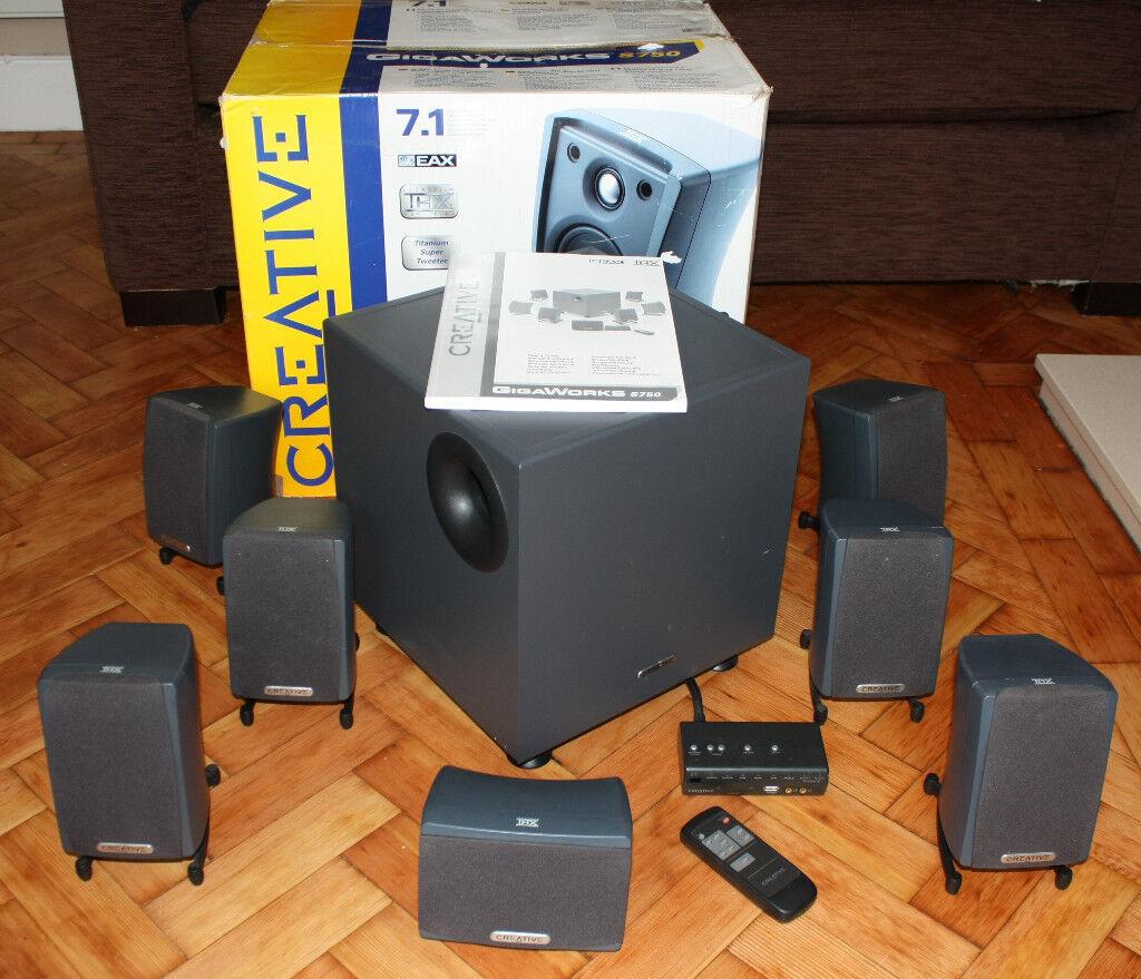 Creative Gigaworks s750 7.1 surround speaker system. *Reduced*.