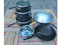 Set Circulon Commercial Professional Hard Anodized Nonstick Cookware, Stock Pot, Frying Pans + More