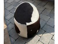 IKEA Cowhide swivel footstool