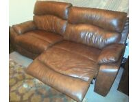 insignia sofology sofa - like new 3 seater & single power recliner