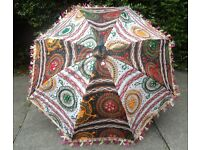 Embroidered Wedding Decor Bridal Parasols