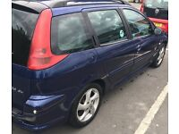 FOR SALE PEUGEOT 206 SW 2.0 HDI **£295 NO OFFERS **