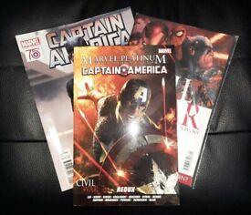Marvel Captain America Comic Bundle: Definitive Redux, Civil War #1 & Magazine