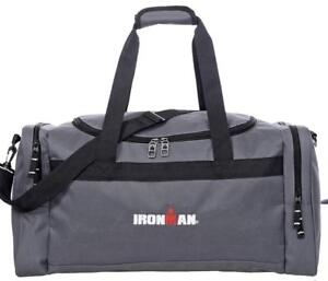 IRONMAN 24 Inch Large Sports Travel Size Duffle Gym Bag (Grey)