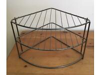 Plate rack - wire organising shelf for inside cupboard