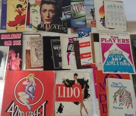 Collection of show programmers including 1961 Lido Champs Elysee programme