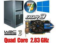 Gaming PC, Intel QUAD CORE 2.83GHz, HD6770 Gddr5 , 4GB Ram, 320GB