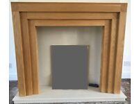 Oak fire surround + marble back & hearth
