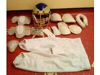 REDUCED! American Football Helmet, Pads and Shorts