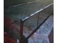 5ft long glass tank with metal lid ideal for spider/snake/lizard/rat/reptile/pet