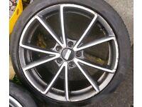 "Alloy wheels 18"" rs4 new style wheels 5x112"