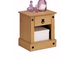 Matching pair of mexican pine bedside tables