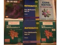 GCSE and A- Level text books - (maths (stats,mechanics,core) , physics, chemistry, German)