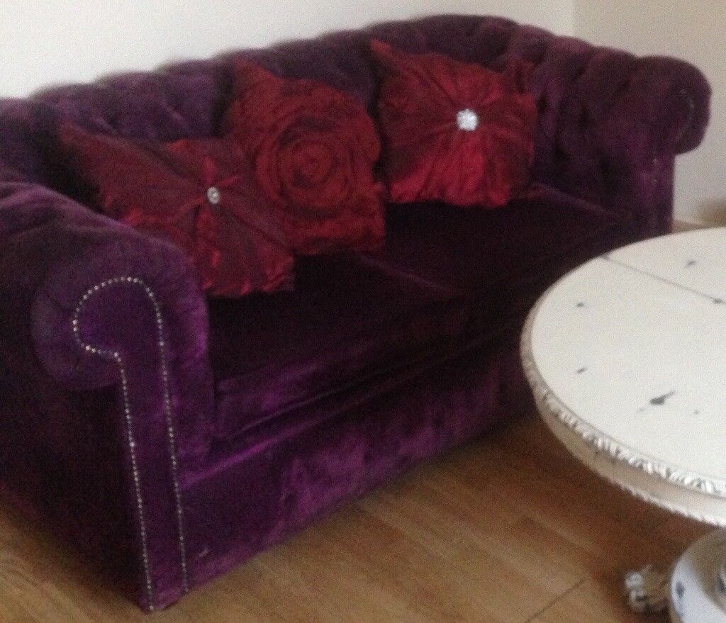 Beautiful 2 seater Amethyst Chesterfield