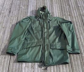 3XL XXXL British Army Mens Waterproof Hooded Double Lined Jacket Olive Green LIKE NEW