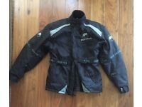 Men's XL Buffalo motorcycle jacket and Weiss pants.