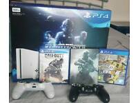 ps4 slim 500gb with 3 games +2 pads