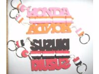 Motorcycle Key Fobs Suzuki and Honda Foam Key Rings. Job Lot x 30