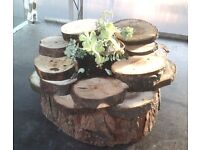 PP Log slice rockery planter