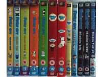 Family Guy Seasons 1-12 dvd box sets and Family Guy Star Wars Trilogy