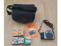 Canon EOS 3000N Film Camera, Case, Film, Good Condition