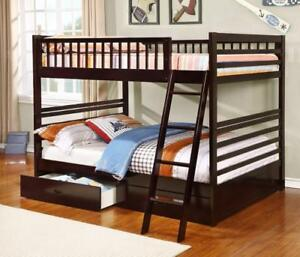 Free shipping in Vancouver! Full over Full Bunk Bed with Storage Drawers! Brand New!