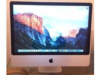 "Apple iMac 24"" 500GB HD, 10/10 Condition"