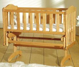 Sapling gliding crib with new mattress