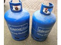 Two Empty 15kg Calor Gas bottles