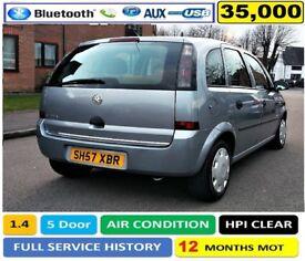 35,000 Miles, 2007(57) Vauxhall Meriva 1.4 i 16v like Ford CMax, Renault Scenic, Focus Astra Corsa