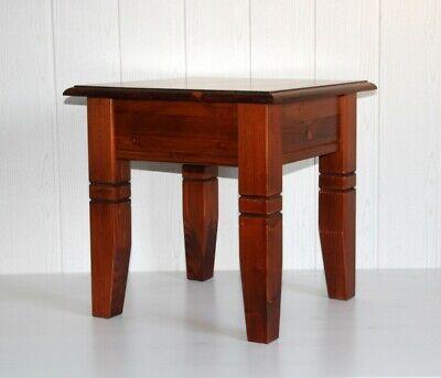 Massivholz Couchtisch Beistelltisch 45x45cm Telefontisch Hocker kirsch Farben - Kirsche Wohnzimmer Beistelltisch