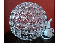 Round Beaded Crystal Table/Bedside Lamp