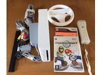 Nintendo Wii, incl Mario Kart & Wheel