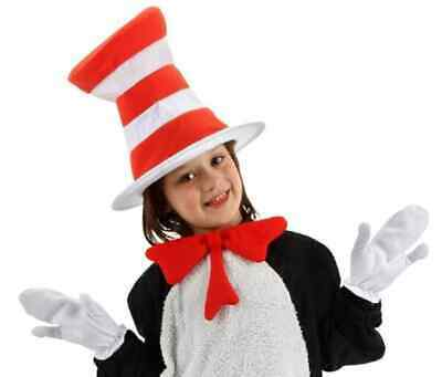 Cat in the Hat Kit Gloves Bow Tie Dr Seuss Halloween Child Costume Accessory