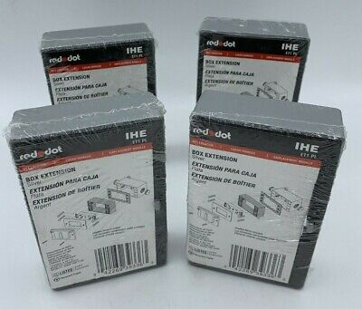 New Lot Of 4 Red Dot Ihe Et1-pl Silver Box Extension Wet Location Sealed