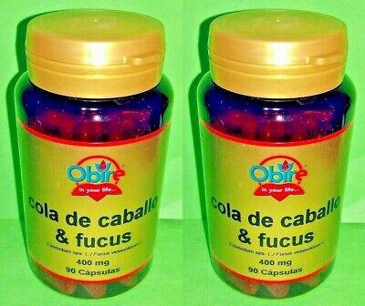 Cola de caballo Fucus 400mg 2x90 capsulas OBIRE Diuretico Piel Adelgazar Dieta