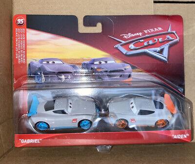 "Disney Pixar Cars - Rust-Eze Racing center ""Gabriel & Aiden"" 2 Pack diecast"
