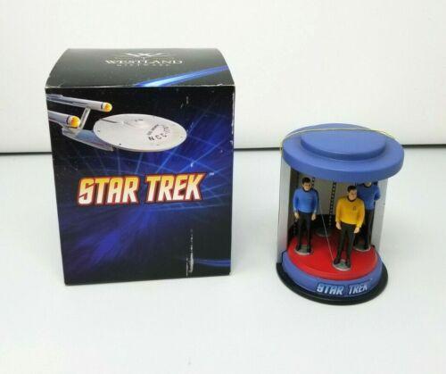 "Westland 2015 Giftware Star Trek TOS Crew in Transporter Light-Up 6"" Statue EUC"