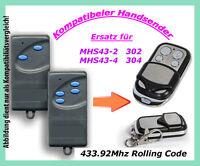 433 Mhz Control Remoto De Mano Compatible Con Puerta Garaje Mhs43-2 302 Mhs43-4 -  - ebay.es