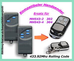 433Mhz Handsender kompatibel zu Garagentor Siebau MCHS43-2 MNHS433-02 MNHS433-04