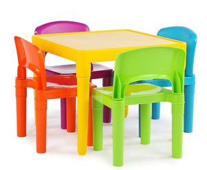 Tot Tutors Kids Plastic Table and 4 Chairs Set Vibrant Colors  sc 1 st  eBay & Tot Tutors Kids Plastic Table and 4 Chairs Set Vibrant Colors | eBay