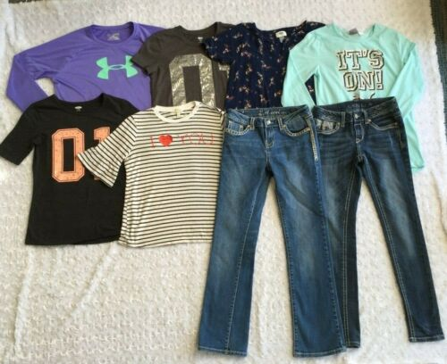 LOT of Girls Clothes-Jeans & Tops-Grace in LA,  L.A. Idol, UA, Puma  (Size 14)