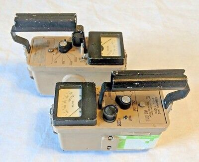 Ludlum Model 17-1 Ion Chamber Geiger Counter Radiation Survey Meter Lot Of 2