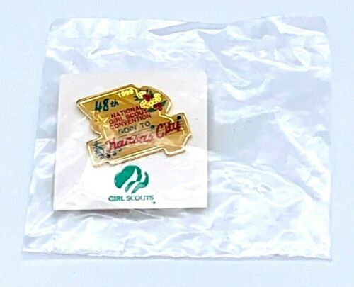 """Girl Scout Collectible Pin 48th National Convention 1999 1"""" NIP"""