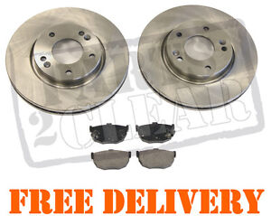 HYUNDAI COUPE 01-09 REAR BRAKE DISCS AND PADS 1.6 2.0 2.7