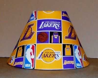 Los Angeles Lakers lamp shade Basketball  fabric lampshade  Handmade Desk Table , used for sale  Shipping to India