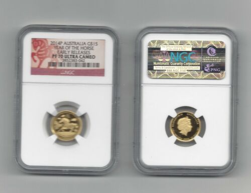 2014-P NGC $15 Australia Gold Year of the Horse PF70 Ultra Cameo EARLY RELEASE