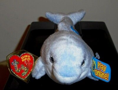 Ty Beanie Baby BB 2.0 - CLIPPER the Dolphin (8 Inch) MINT with MINT TAGS